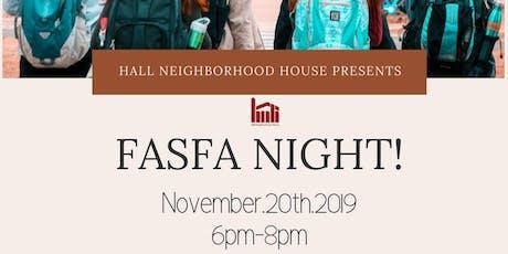Hall's FASFA Night tickets