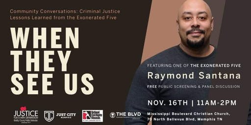 When They See Us: Screening and Panel Discussion featuring Raymond Santana