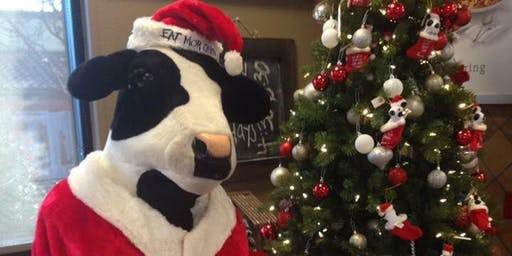 PICTURES  WITH SANTA COW