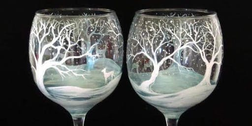 Winter White Wine Glasses