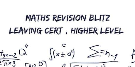 Maths Revision Blitz: Junior Cert Higher Level tickets