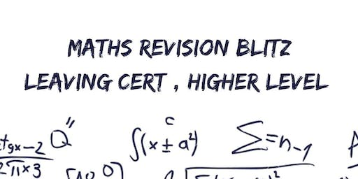 Maths Revision Blitz: Junior Cert Higher Level