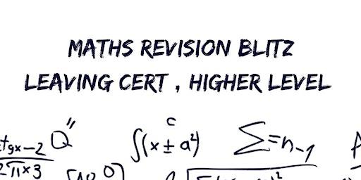 Maths Revision Blitz: Junior Cert Higher Level