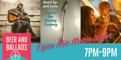 Beers and Ballads Open Mic w/ Jack Green!!