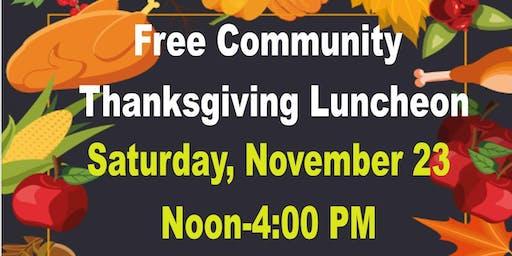 Community Thanksgiving Luncheon-Free