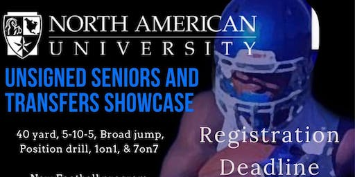 North American University Football  Showcase Camp 12/14 ($65 at showcase location)