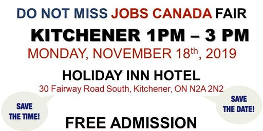 Kitchener Job Fair - November 18th, 2019