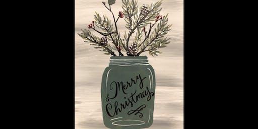 Country Christmas Jar