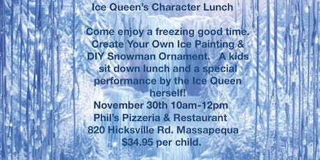Ice Queen's Character Lunch tickets