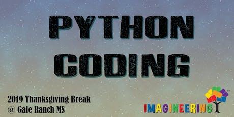 SRVEF IMAGINEERING (Thanksgiving Break): Python Coding tickets