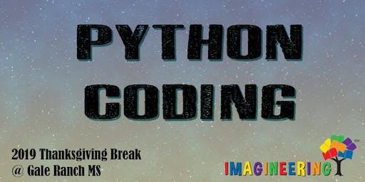 SRVEF IMAGINEERING (Thanksgiving Break): Python Coding