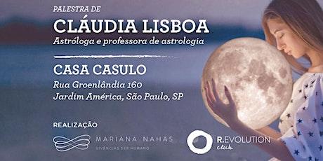 CLAUDIA LISBOA - A Evolução do feminino através do tempo e da astrologia ingressos