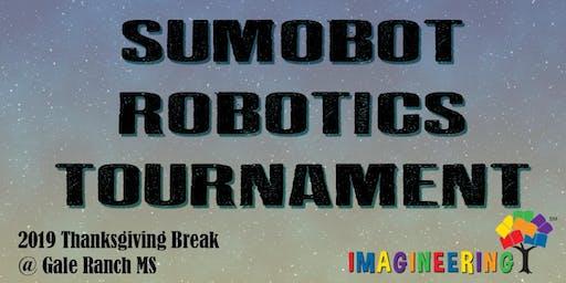 SRVEF IMAGINEERING (Thanksgiving Break): SumoBot Robotics Tournament