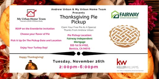 Thanksgiving Pie Pickup By Andrew Urban & My Urban Home Team