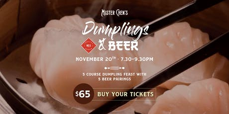 Dumplings & Beer tickets