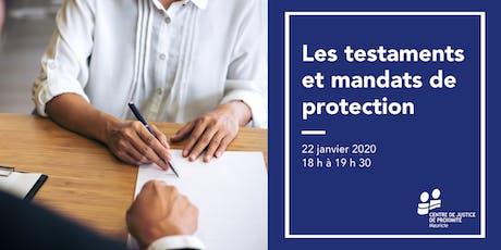 Séance d'information - Les testaments et mandats de protection billets