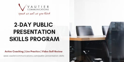 San Francisco Public Speaking Training Workshop - February 26–27, 2020