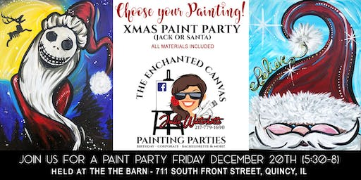 Choose your Painting ! Jack Skellington or Santa Painting Party