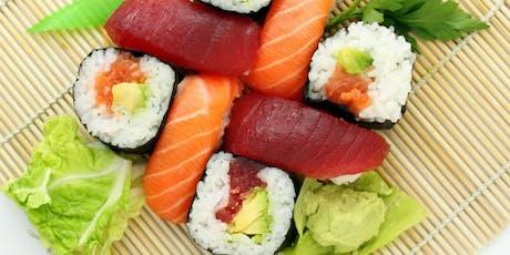 Japanese Snacks + Sushi tickets