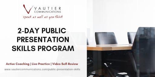 Atlanta Public Speaking Training Workshop - April 8–9, 2020