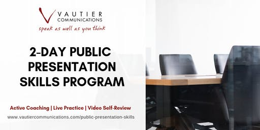 Chicago Public Speaking Training Workshop - April 29–30, 2020