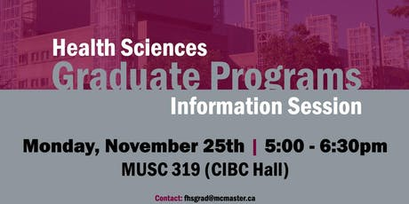 Health Sciences Graduate Programs Information Session tickets