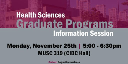 Health Sciences Graduate Programs Information Session