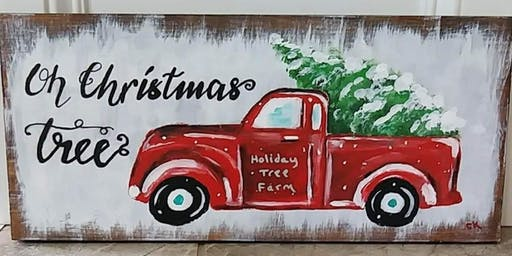 Red Truck Christmas Paint Party