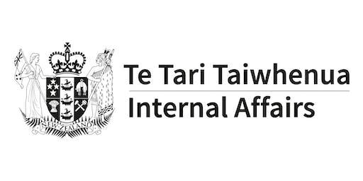 DIA Training Workshop Auckland 18 November