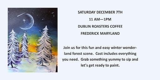 Winter Trees Paint & Coffee