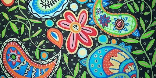 Fun Doodles Acrylic Painting