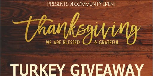PCGG Presents: Thanksgiving Free Turkey Giveaway!