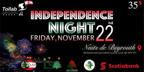 Fête de l'indépendance Libanaise - Lebanese Independence Night billets
