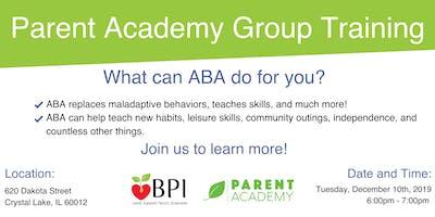 December Parent Academy Group Training