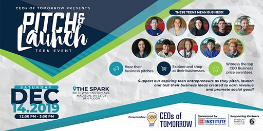 CEOs of Tomorrow - Teen Pitch & Launch Event