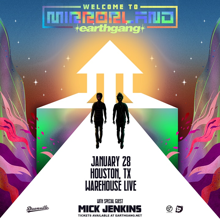 """EARTHGANG """"WELCOME TO MIRRORLAND TOUR"""" with MICK JENKINS image"""