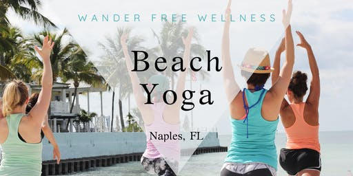 Beach Yoga at Lowdermilk Beach Naples, FL