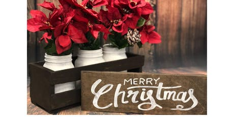 Ladies Night - Christmas Crate & MasonJar Centerpiece & Sign tickets
