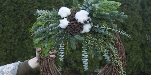 Deck the Halls with Boughs and Brews A Winter Wreath Workshop