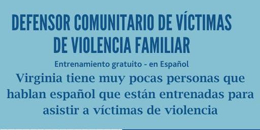 Entrenamiento para defensor comunitarios de víctimas de violencia doméstica