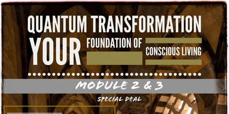 195 Quantum Transformation - Foundation of Conscious Living - MODULE 2 & 3 tickets