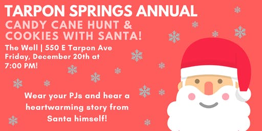 Tarpon Springs Annual Candy Cane Hunt & Cookies with Santa