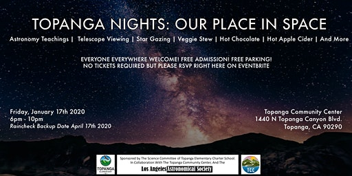 TOPANGA NIGHTS : OUR PLACE IN SPACE