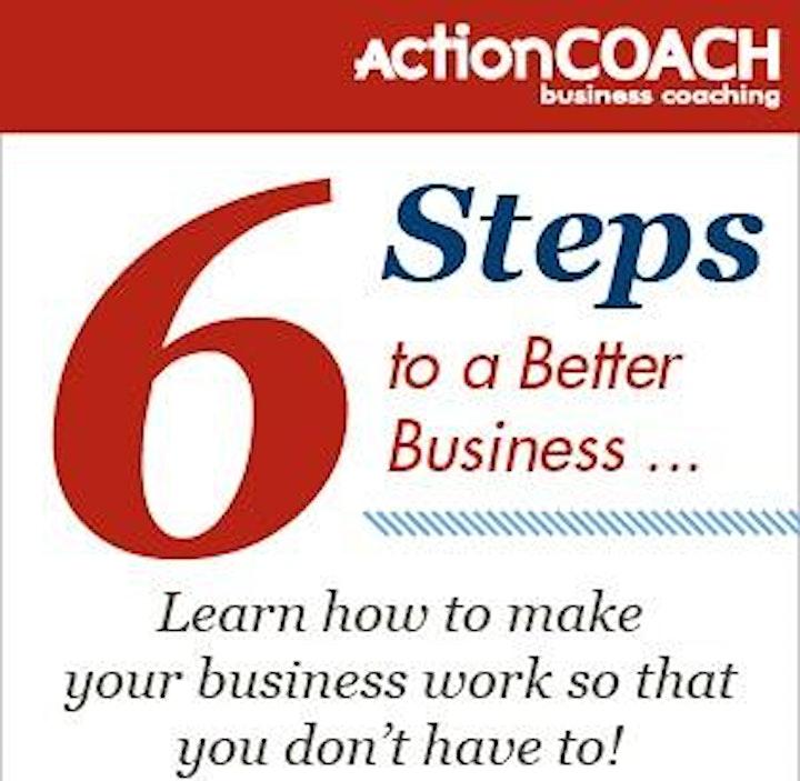 6 Steps to a Better Business workshop image