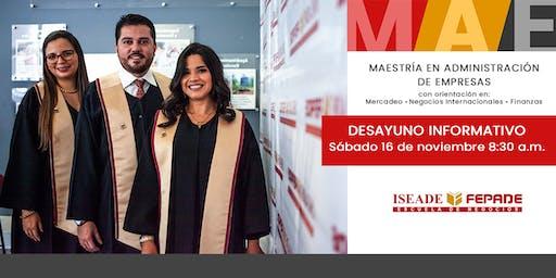 Desayuno Informativo MBA ISEADE-FEPADE