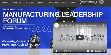 The Manufacturing Leadership Forum - Spring 2020 tickets