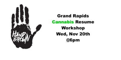 Grand Rapids Cannabis Resume Workshop