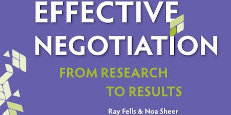 Effective Negotiation: From Research to Results tickets