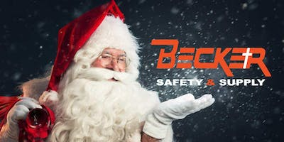 Santa and Mrs Claus Visits Becker Safety