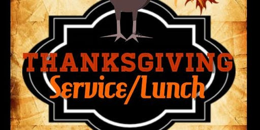 Thanksgiving Service/Lunch